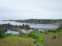佐渡市の高台からの風景