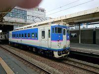 南千歳駅に停車している列車。