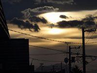 11月の夕方のある風景