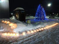 2017、サーモンバーク冬祭りのアイスキャンドル&ツリー。