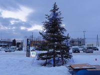 2017年、サーモンパーク冬祭り会場に設置されていた冬の風景。