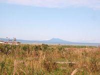 野付半島からの国後島の風景