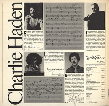 Charlie Haden - Closeness2