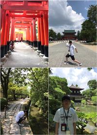 夏の伏見稲荷大社、平安神宮、銀閣寺、哲学の道