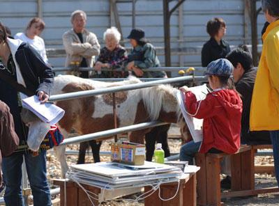 お馬さんを描こう!ちびっこ写生会