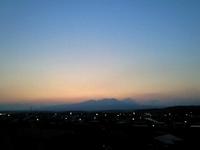 昨日の夕方散歩
