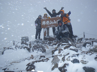 樽前山東山(1022m)雪中行~キムチ鍋!?