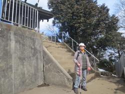 筑波山で祈る