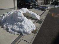 22日の雪解けず