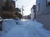 今年の積雪量