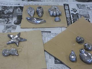 ホワイトメタル鋳造でペーパーウェイトを作る・2回目