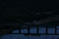 早朝の吉井川橋梁
