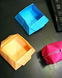 チビと折り紙