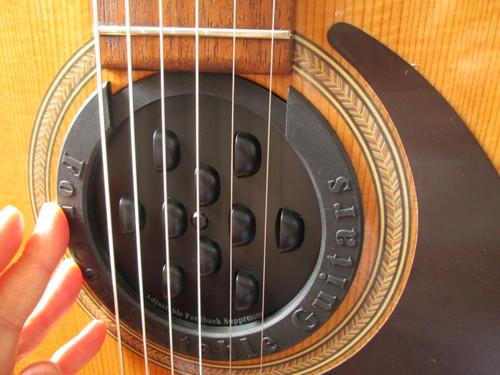 ギターのサウンドホールにゴムの蓋