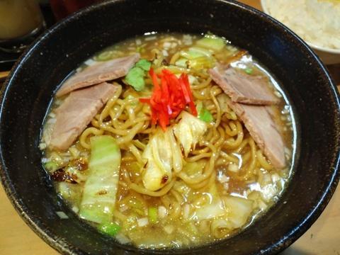 麺家 八の坊 (都立大学) スープやきそば