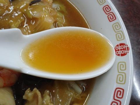上海飯店 (大森海岸) 五目ソバ+半チャーハン