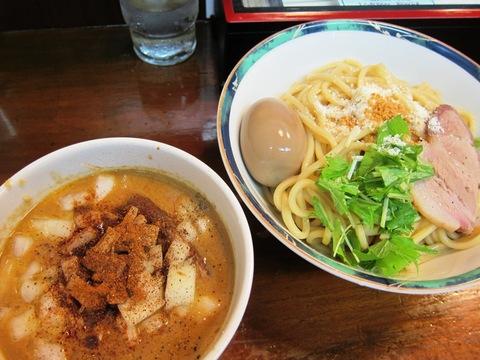 らぁめん 葉月 (雪が谷大塚) オム飯とカレーつけ麺