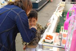 突然のお客さんをご案内? 札幌中央卸売市場