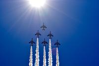 呆れるほどの晴天に描かれる軌跡 札幌航空ページェント