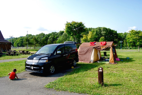 平取町の「二風谷ファミリーランド」にキャンプに行ってみた