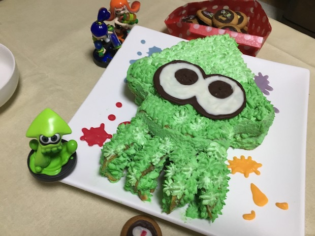 イカしてる!スプラトゥーンのクリスマスケーキにLOVE!