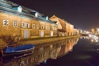 夜の小樽運河と小樽ビール(14/05/04) 2014/05/24 05:50:36