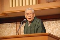 財さつ講演会で森田実氏が課題山積の国政・道政に喝