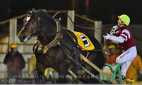 オイドン VS ホクショウサスケ レース中に笑う騎手