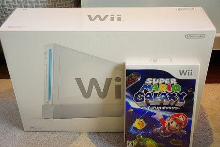 Wiiとスーパーマリオギャラクシーを買ったよ