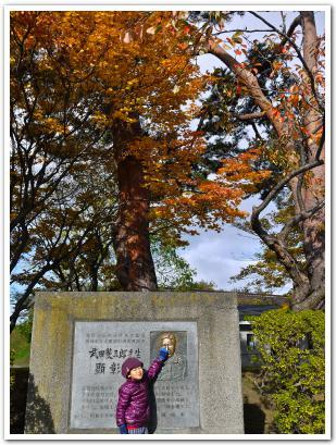 紅葉が萌える五稜郭公園 函館市