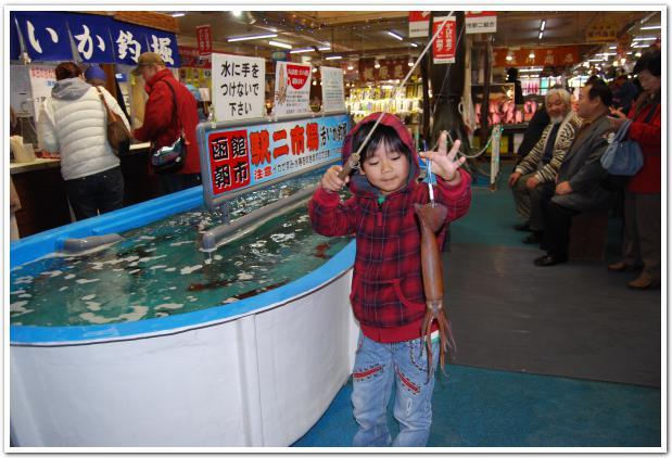 不漁が続く函館で 生け簀イカを堪能