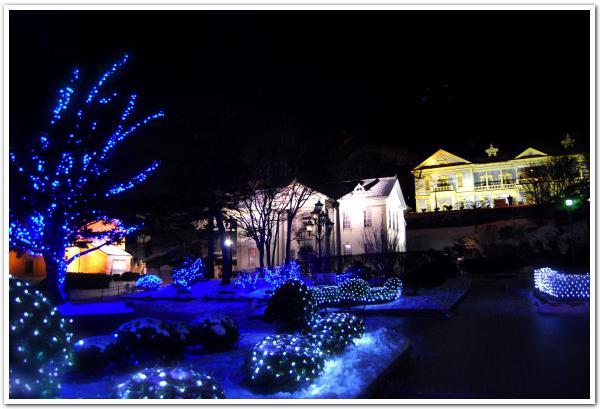 「夜に魅せる函館元町の色」と「北海道の冬の寒さ」について
