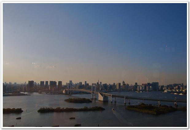 フジテレビの展望室から眺める品川台場