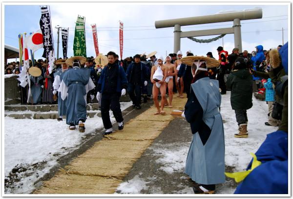 威風堂々の行修者 木古内町寒中みそぎ祭り