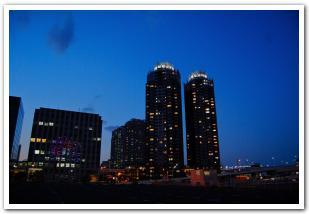 夕暮れの「お台場」散歩と赤い「レンボーブリッジ」