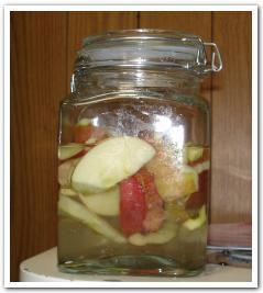 天然酵母から「リンゴパン」を焼いてみた