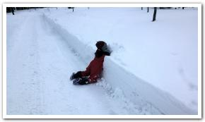 新雪を踏み込む快感 「道南四季の杜公園」にて