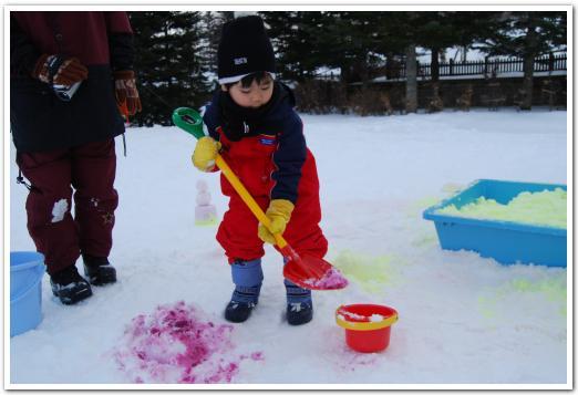 滝野すずらん公園で雪遊びをしてきた