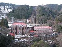 ちょっぴり雪の東横山発電所