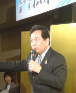 【稚内発】松木衆議の集会で田中康夫参議が熱弁