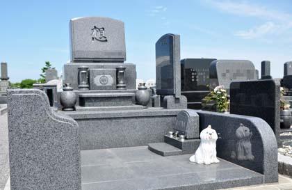 石狩はまなす墓苑、小型でも個性的なお墓を