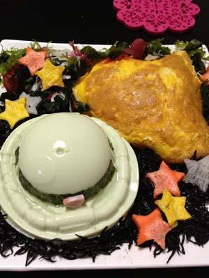 ザク豆腐の容器でシャア専用。