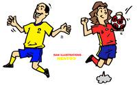 イラスト・サッカー選手シンプル