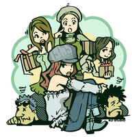 ○作品・ポップ集合イラスト