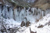 プチ氷瀑(七条大滝)