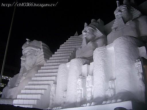 さっぽろ雪まつり「エジプト遺跡」