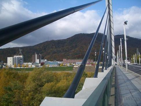 ミュンヘン大橋からの藻岩山