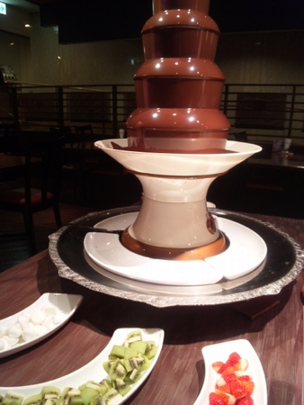 甘露の森チョコレートフォンデュ