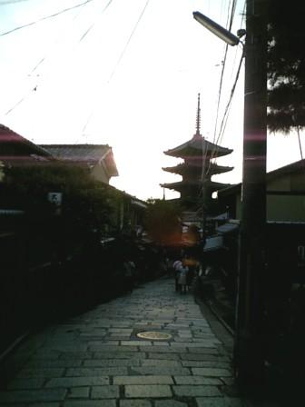 京都産寧坂のへん。