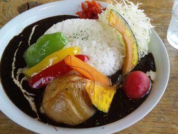 収穫菜カレー